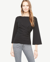 Ann Taylor Draped Flare Sleeve Top