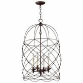4 - Light Lantern Geometric Chandelier Cyan Design