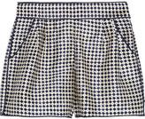 Oscar de la Renta Printed silk-twill shorts