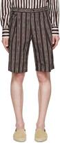 Dolce & Gabbana Black Pinstriped Shorts