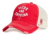 Original Retro Brand Men's Tacos & Cervezas Trucker Hat - Red