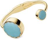 Kate Spade Women's Gold-Tone Stainless Steel Hinge Half-Bangle Bracelet Activity Tracker 26mm KSA31215