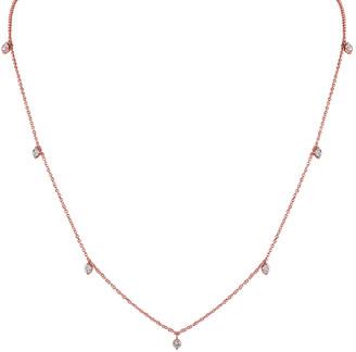 Sabrina Designs 14K Rose Gold 0.35 Ct. Tw. Diamond Station Necklace
