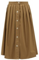 Giuliva Heritage Collection Giovanna Cotton-blend Twill Skirt - Womens - Brown