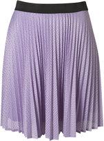 Topshop Airtex Pleated Skirt