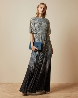 Ted Baker Masquerade Pleated Maxi Dress