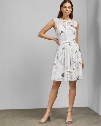 Ted Baker ALEKSA Fortune embroidered bow dress