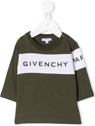 Givenchy Kids logo print jersey top