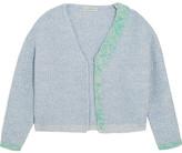 Vika Gazinskaya Appliquéd Wool Cardigan - Blue
