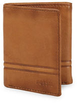 Fossil Watts Leather Tri-Fold Wallet