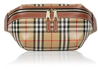 Burberry Sonny Check Leather Belt Bag