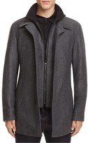 HUGO Barelto Layered Wool Blend Coat