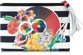 Mary Katrantzou Marine Floral Wheel Canvas Pouch
