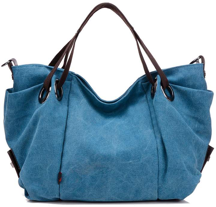 bf5f7eb8a56b NOTAG Hobo Handbag for Women Vintage Canvas Tote Bag Simple Style Large  Capacity Crossbody Shoulder Bag Top Handle Stachel Messenger Bag Purse with  ...