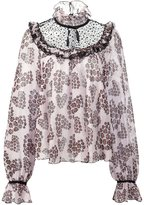 Giamba multi print ruffled blouse