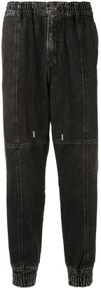 Songzio Denim Slim-Fit Track Pants