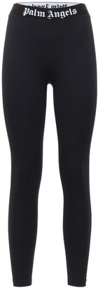 Palm Angels Classic Logo Stretch Jersey Leggings
