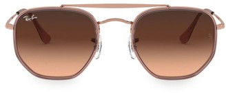 Ray-Ban RB3648 52MM Geometric Aviator Sunglasses