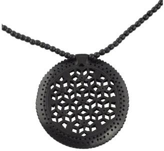 Novica Handmade Ebony Wood 'Mughal Enchantress Medallion' Necklace