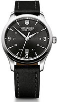 Victorinox Swiss Army Alliance Men's Black Leather Watch