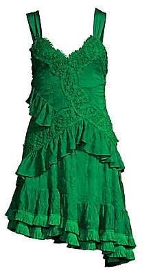 Alexis Women's Lakshmi Ruffle Lace Mini Dress