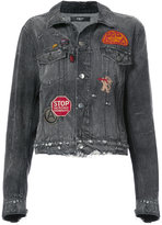 Amiri patch denim jacket