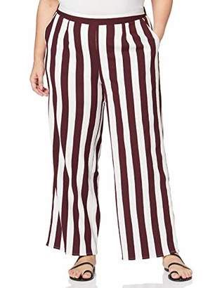 SIMPLY BE Women's Ladies Stripe Wide Trousers,(Size:)