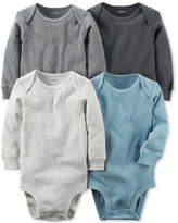 Carter's 4-Pk. Cuffed Cotton Bodysuits, Baby Boys (0-24 months)