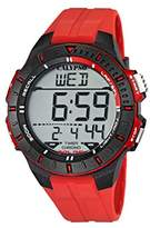 Calypso Unisex Digital Watch with LCD Dial Digital Display and Red Plastic Strap K5607/5