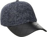 San Diego Hat Company Women's Nubby Tweed Ball Cap with Quilted Pu Bill