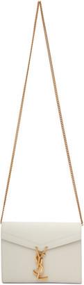 Saint Laurent Off-White Cassandra Chain Wallet Bag
