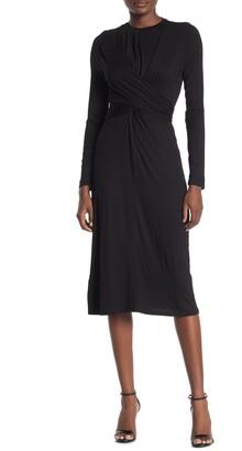Velvet Torch Long Sleeve Tie Dress