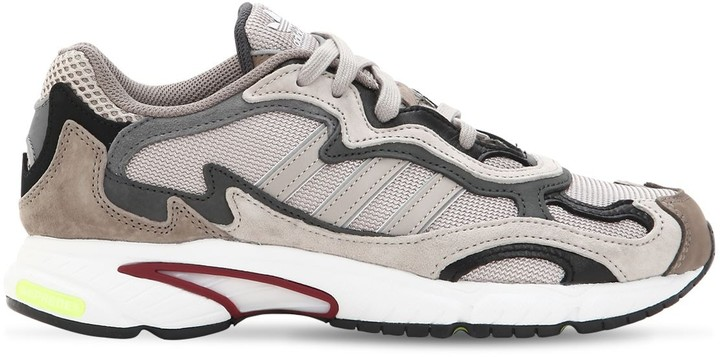 adidas Temper Run Mesh & Suede Sneakers