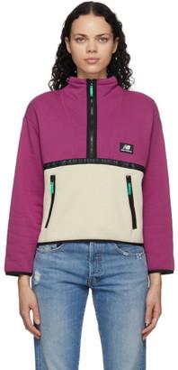 New Balance Pink Colorblocked Terrain Half-Zip Sweatshirt