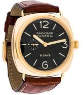 Panerai Radiomir 8 Days Watch w/ Alligator Strap