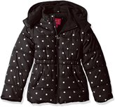 Pink Platinum Little Girls' Printed Foil Star Puffer Jacket
