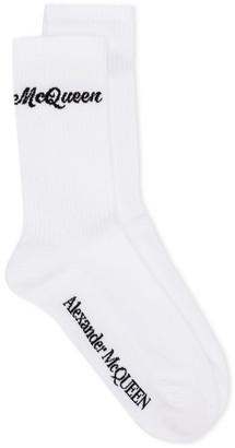 Alexander McQueen Logo Print Socks