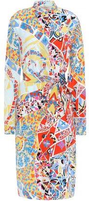 Emilio Pucci Printed Silk Crepe De Chine Shirt Dress
