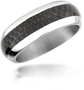 Zoppini Zo Dark - Carbon Fiber & Stainless Steel Band Ring
