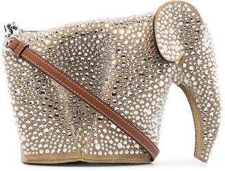 Loewe Elephant crystal-embellished bag