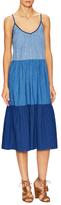 MiH Jeans Sunset Colorblock Midi Dress