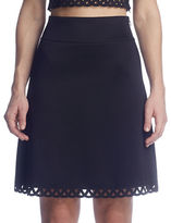 Susana Monaco Fit-and-Flare Laser-Cut Skirt
