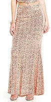 Belle Badgley Mischka Sequin Mermaid Mason Skirt