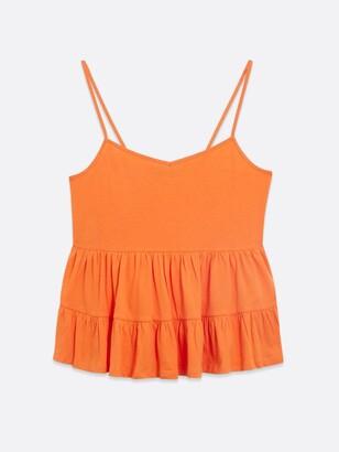 New Look Double Peplum Cami - Orange