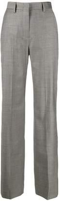 Pt01 geometric pattern straight-leg trousers