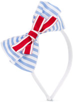 Simonetta bow detail striped hairband - kids - Cotton - One Size
