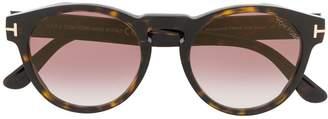 Tom Ford Tortoiseshell Round Tinted Sunglasses