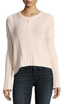 Rails Elsa Long-Sleeve Pullover Sweater, Blush