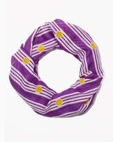 Charming charlie Dots and Stripes Infinity Scarf