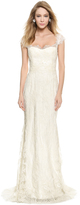 Marchesa Corded Lace A-Line Gown
